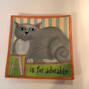 A is for Adorable Wall Plaque